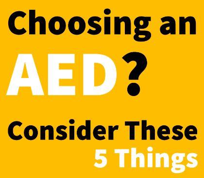 Choosing an AED location