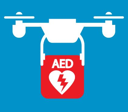 Access to AEDs through the use of drones