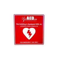 aed window sign