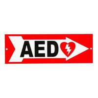 Right wall arrow for AED