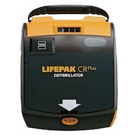 black and yellow AED